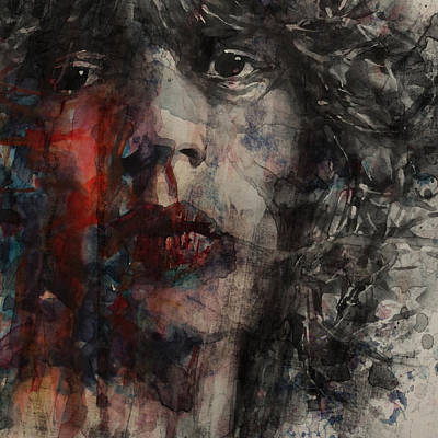 Rolling Stones Wall Art - Painting - Angie I Still Love You Baby  Every Where I Look I See Your Eyes by Paul Lovering