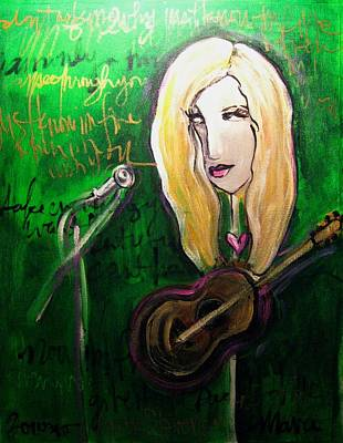 Painting - Angie Stevens Solo by Laurie Maves ART