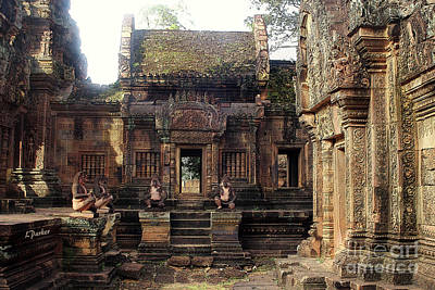 Angkor - Banteay Srei Interior Art Print