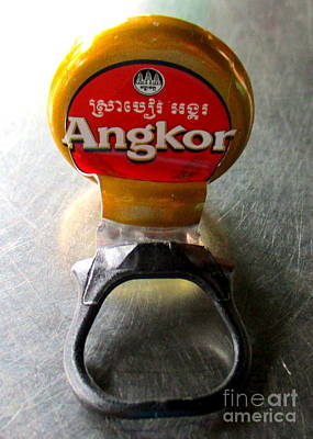 Photograph - Angkor Beer by Randall Weidner
