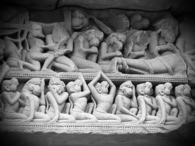 Buddha Photograph - Angkor Carvings by Ian Scholan