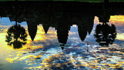Photograph - Angkor Reflections by Stephen Stookey