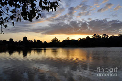 Photograph - Angkor Sunrise 3 by Andrew Dinh