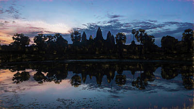 Rorschach Photograph - Angkor Sunrise Impression by Stephen Stookey