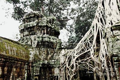 Angkor - Ta Prohm 1 Art Print by Linda Parker