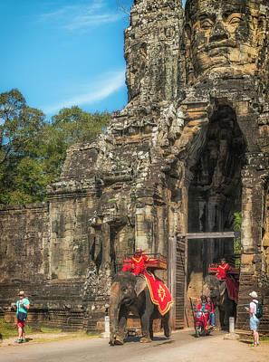 Photograph - Angkor Thom Elepants by David Cote