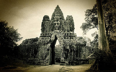 Photograph - Angkor Thom Southern Gate by Weston Westmoreland