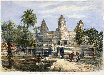 Photograph - Angkor Wat, 1868 by Granger