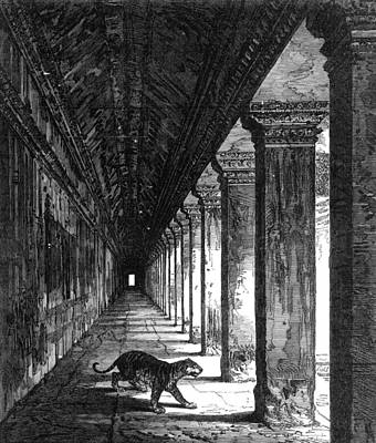 Photograph - Angkor Wat, Cambodia, 1868 by Granger