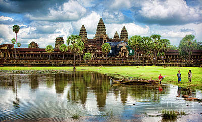 Photograph - Angkor Wat Color Landscape  by Chuck Kuhn