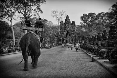 Photograph - Angkor Wat Elephant Walk by David Longstreath