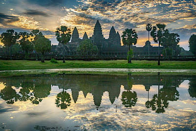 Photograph - Angkor Wat Morning by Stephen Stookey