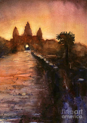 Cambodia Painting - Angkor Wat Sunrise 2 by Ryan Fox