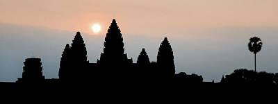Medieval Temple Photograph - Angkor Wat Sunrise by Dave Bowman