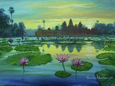 Painting - Angkor Wat Sunrise by Wanvisa Klawklean