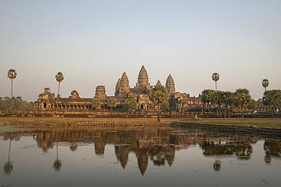 Without People Photograph - Angkor Wat Temple, Cambodia by Huy Lam