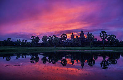 Photograph - Angkor Wat Temple Sunrise by Azad Pirayandeh