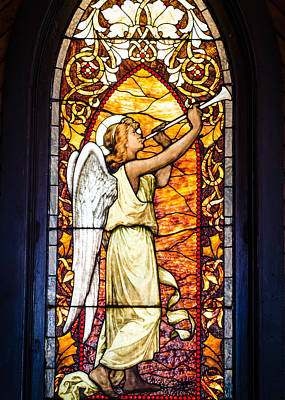 Angel In Glass Art Print