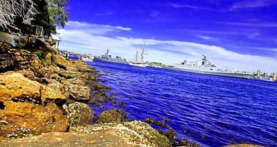 Photograph - Angle On Sydney Harbour Navy Review by Miroslava Jurcik