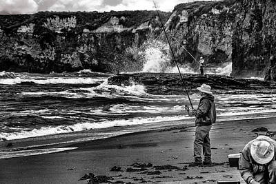 Photograph - Angler On The Beach by Patrick Boening
