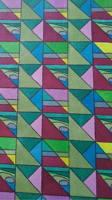 Angles And Triangles Art Print