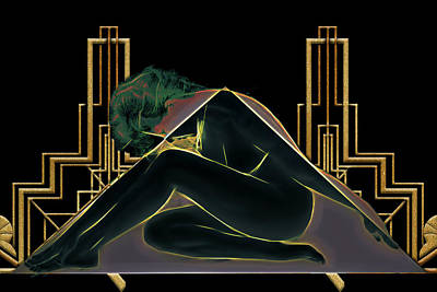 Digital Art - Angles Of Art Deco by John Haldane
