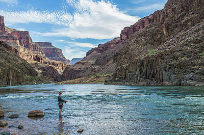 Angling On The Colorado Art Print by Alan Toepfer