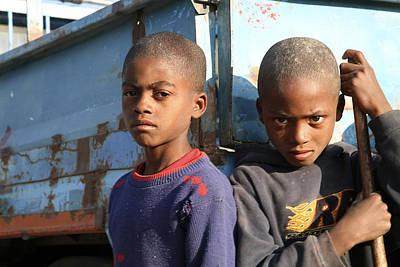 Photograph - Angolan Boys by Marcus Best