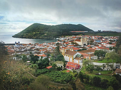 Photograph - Angra Do Heroismo And Monte Brasil, Terceira Island by Kelly Hazel