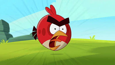 Digital Art - Angry Birds by Maye Loeser