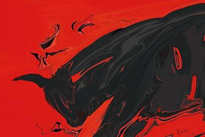 Bullfight Digital Art - Angry Bull 2 by Rabi Khan