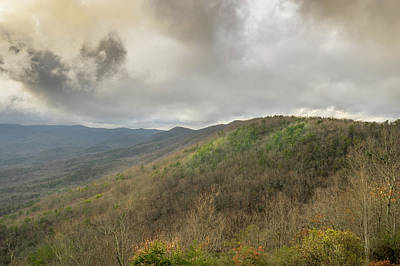 Photograph - Angry Clouds Over Georgia Appalachian Mountains by Douglas Barnett