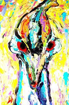Emu Mixed Media - Angry Emu by Jennifer Choate