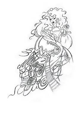 Angry Fairy Art Print by Agnese Kurzemniece