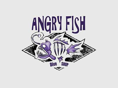 Digital Art - Angry Fish by Peggy Novak
