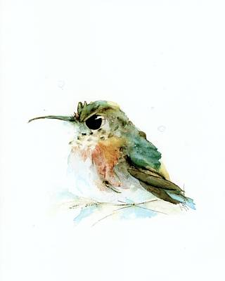 Painting - Angry Little Rufous by Dawn Derman