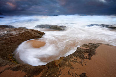 Knights Beach Photograph - Angry Sea by Mike  Dawson