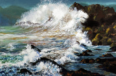 Painting - Angry Sea by Walter Fahmy