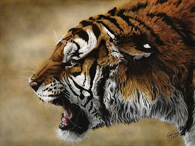 Painting - Angry Siberian by Wayne Pruse