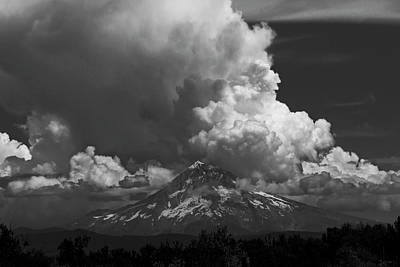 Photograph - Angry Skies Over Mt Hood by Wes and Dotty Weber