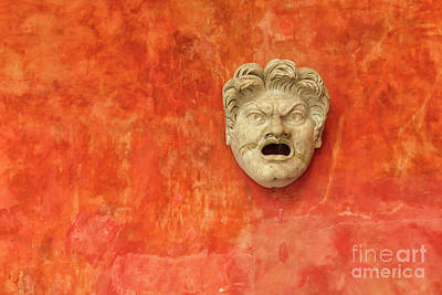 Photograph - Angry Stone Face Of White Man by Patricia Hofmeester