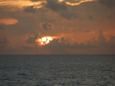 Galleries On Line Photograph - Angry Sunrise Over The Atlantic by Ron Davidson