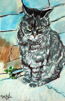Painting - Angry Tabby by Rachel Rose