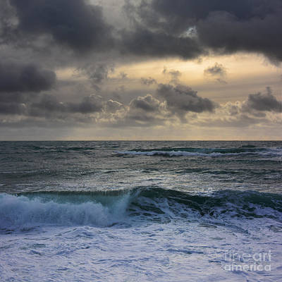 Photograph - Angry Waves. 2 by Paul Davenport