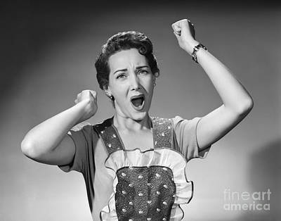 Angry Woman In Apron, C.1950s Art Print