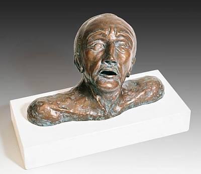 Anguished Man With Broken Nose Original by Dan Woodard