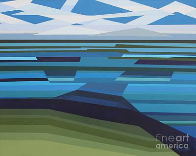Painting - Angular Lake by Annette M Stevenson