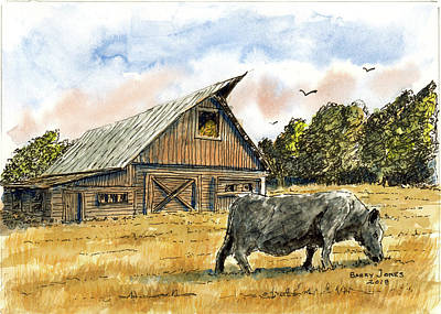 Painting - Angus Country by Barry Jones
