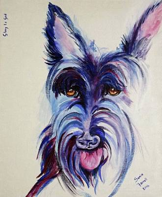 Scottish Dog Mixed Media - Angus Mcfearless by Sonia Farrell