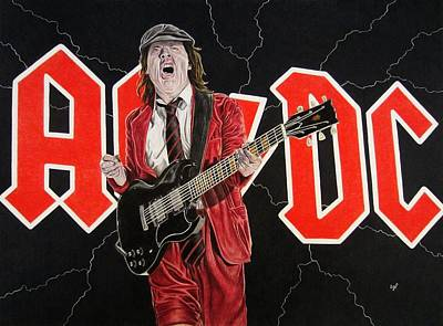 Angus Young Painting - Angus by Scott Larson